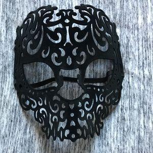 NEW black velvet sugar skull 💀 Halloween Mask